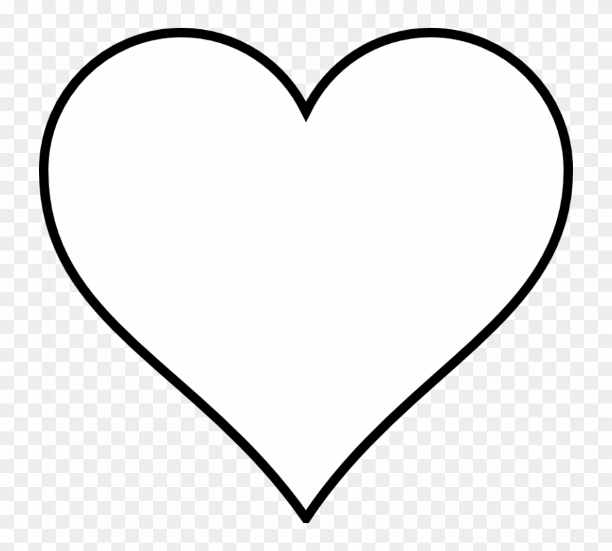 Download Black And White Heart Clipart - White Love Heart Vector - Png Download