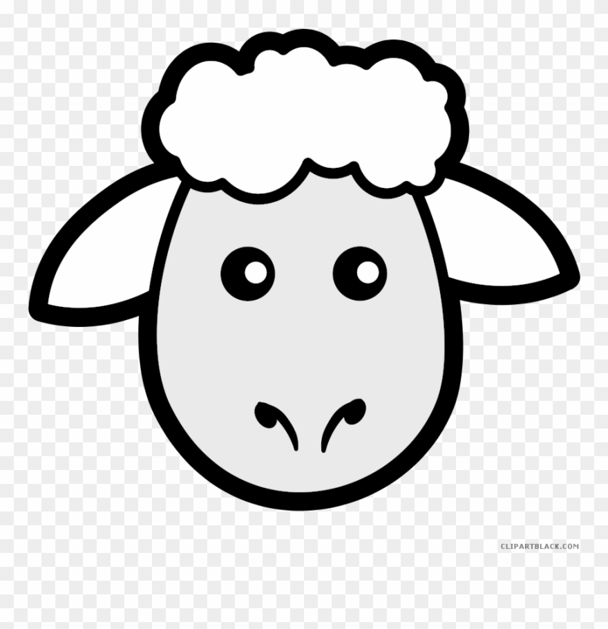 Sheep Animal Free Black White Clipart Images Clipartblack