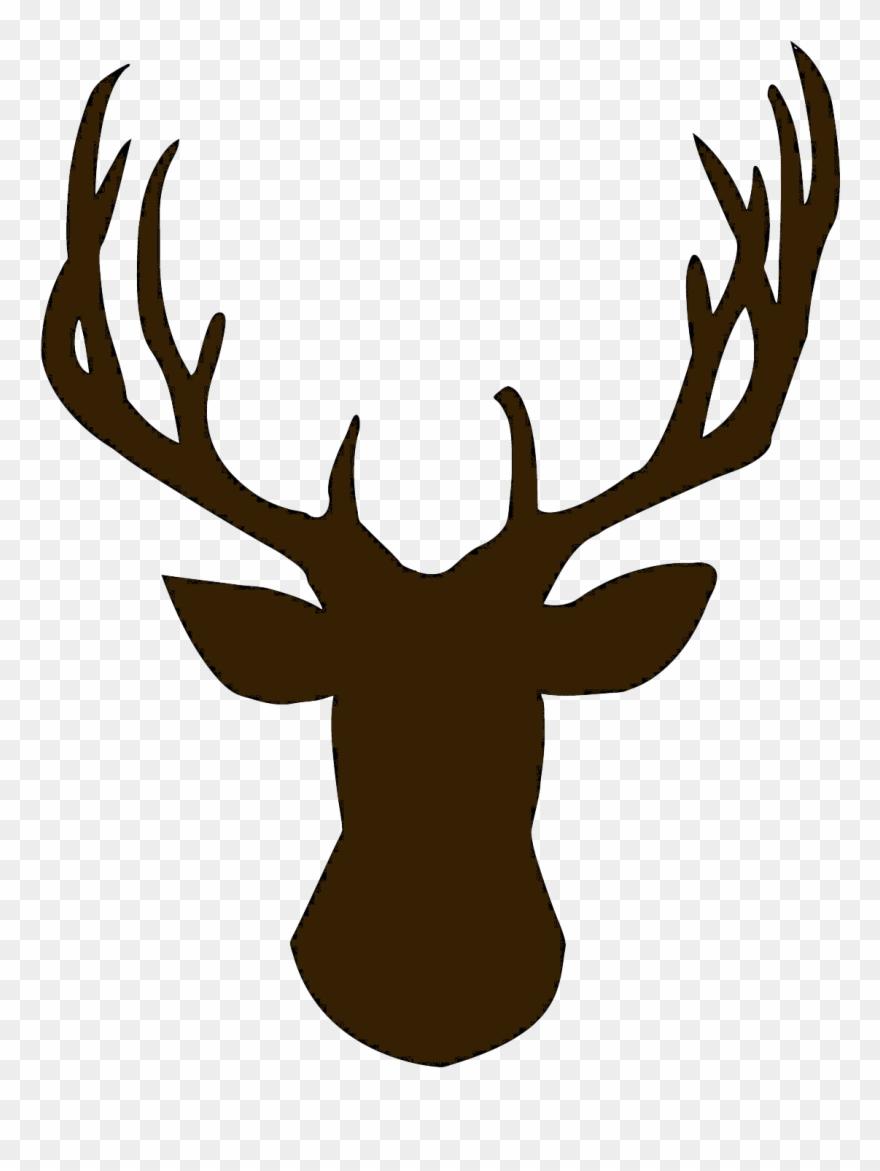 Deer head outline. Foot clipart reindeer silhouette