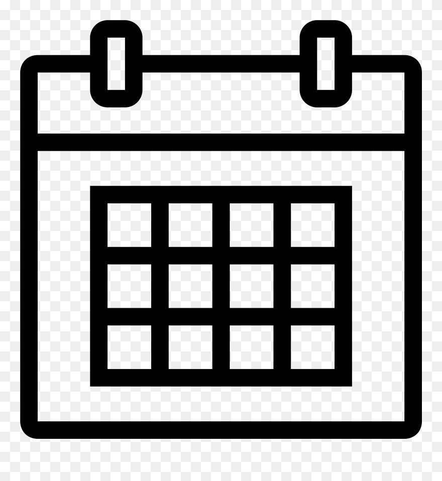 Calendar white. Icon png clipart
