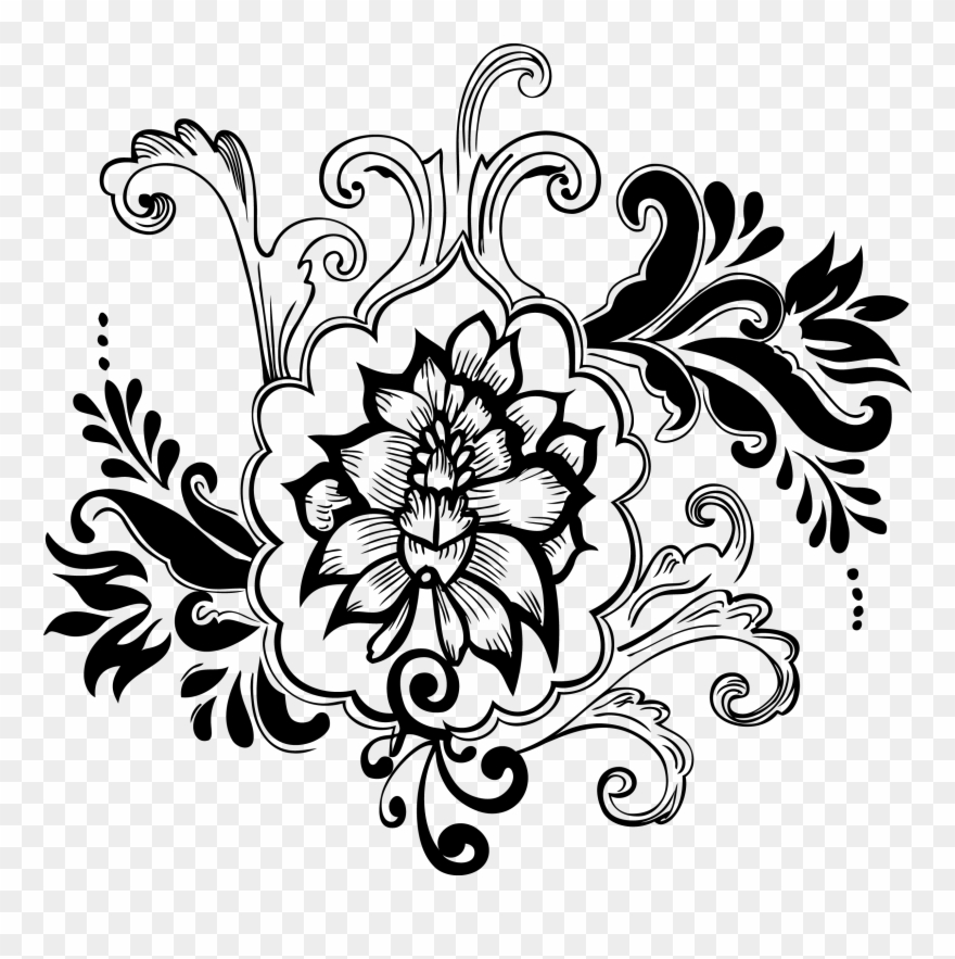 Flower Vector Png Black And White - Flowers Healthy