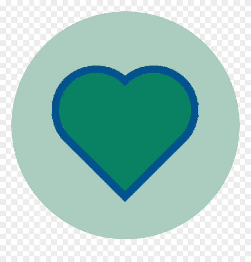 Blue Circleclip Art Transparent: Heart Clipart (#3801186)