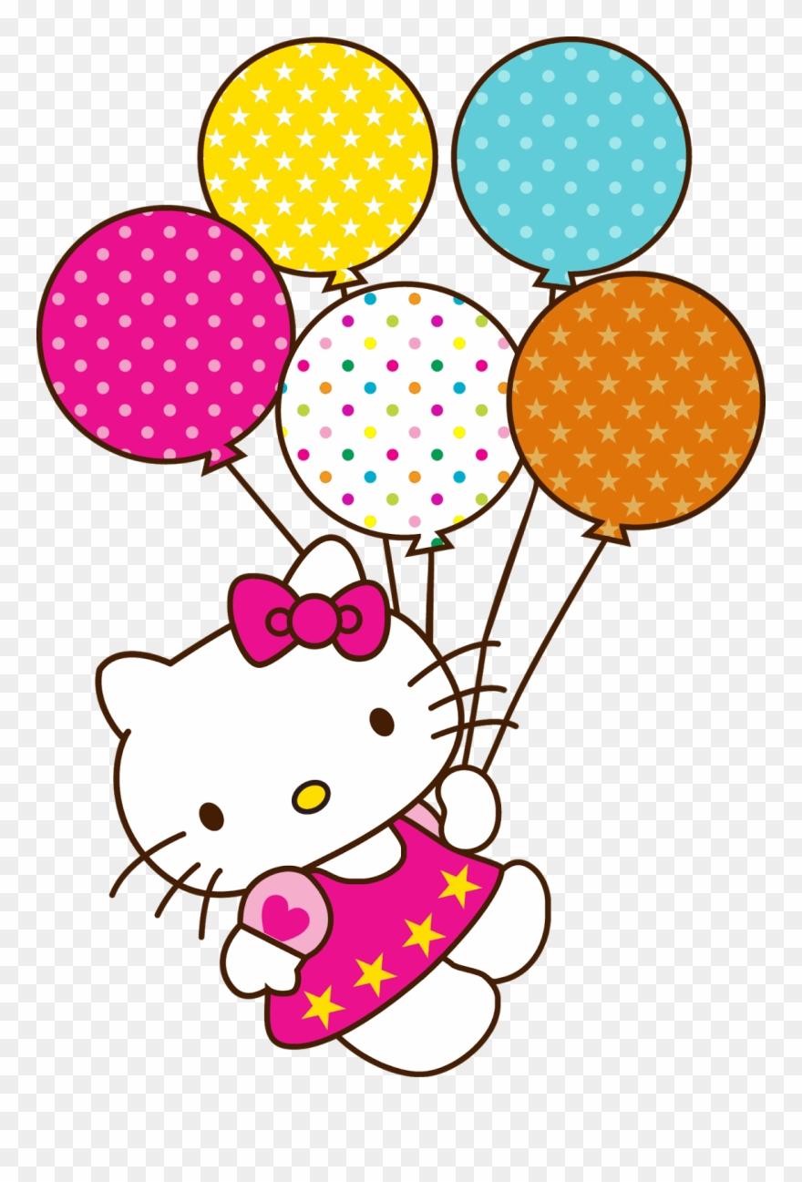 Hello Kitty Happy Birthday Balloons Clipart (#3825143 ...