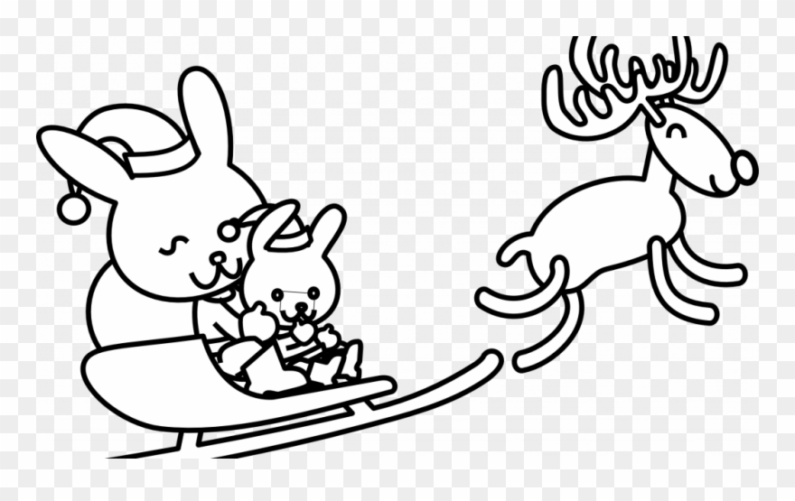 - Christmas Rabbit Coloring Pages With Free Line Art - Christmas Bunny  Coloring Pages Clipart (#3851521) - PinClipart