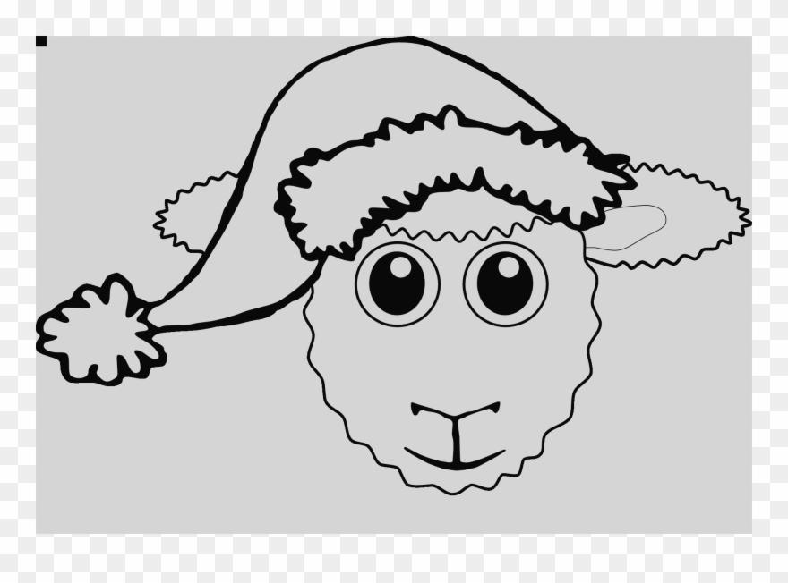 Lamb Face Clip Art Face Sheep Clipart - Christmas Sheep