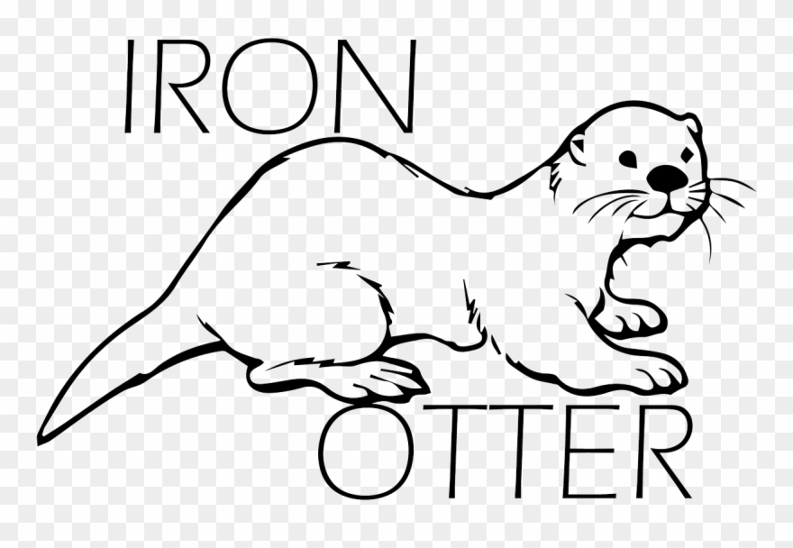 Drawn Otter Marine Otter Sea Otter Coloring Pages Free Printable Clipart 3865610 Pinclipart