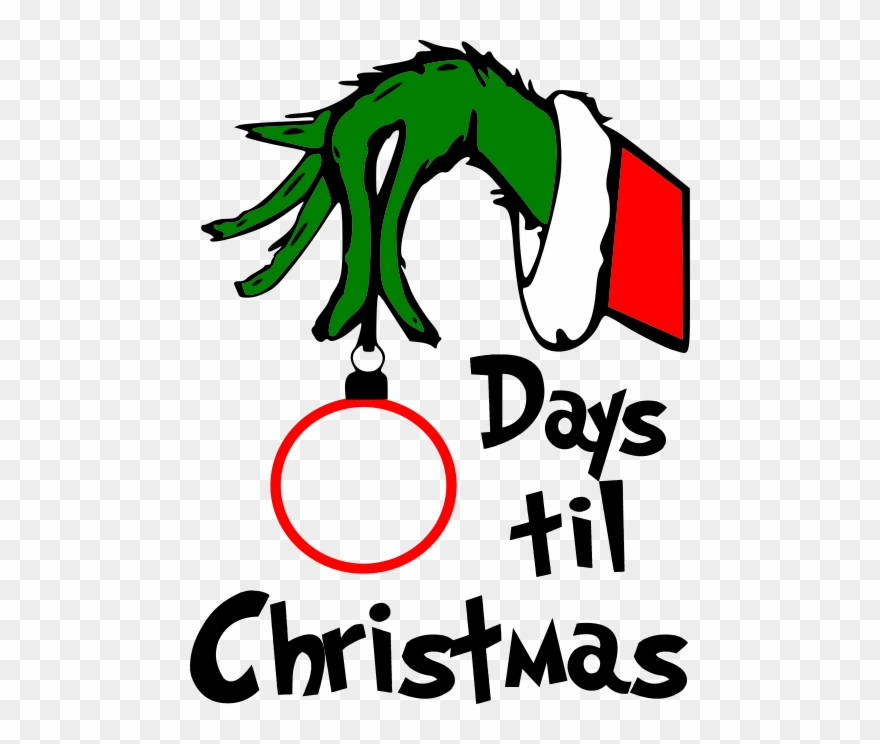 Countdown Till Christmas.Grinch Days Till Christmas No Background Grinch Countdown