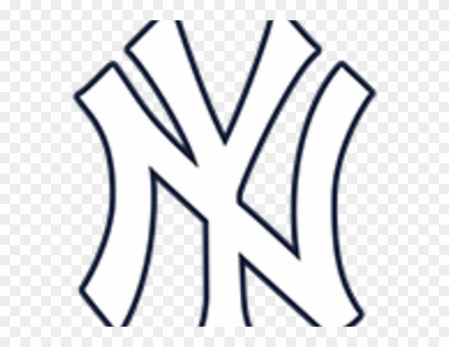New York Yankees Symbol Coloring Pages 28 Collection New York Yankees Logo White Clipart 3879335 Pinclipart