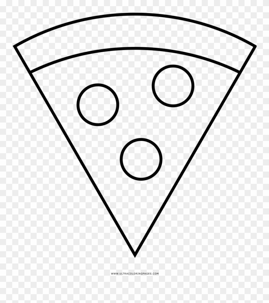 Pizza Coloring Page Line Art Clipart 3885189 Pinclipart