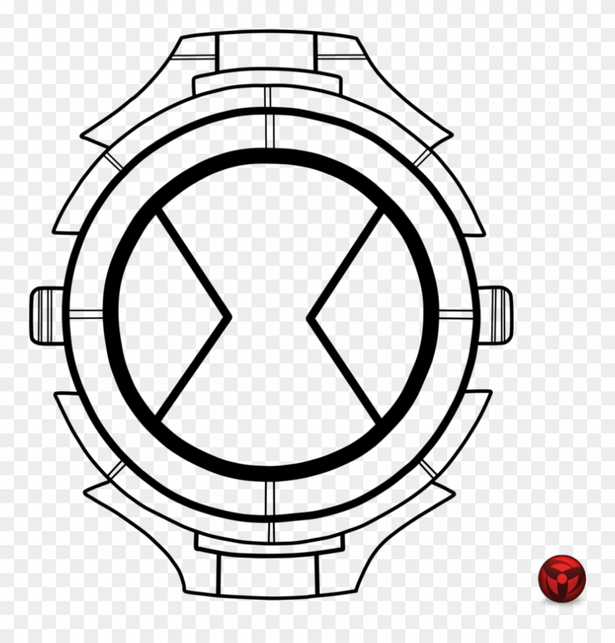 Relogio Para Colorir Ben 10 Watch Coloring Pages Clipart