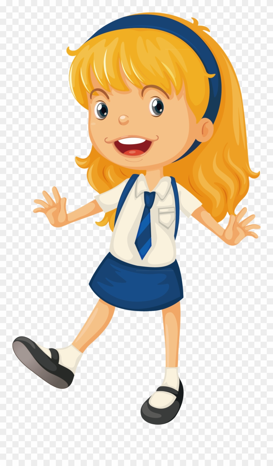 Animation Schools School Uniform Girls Starting School Cartoon