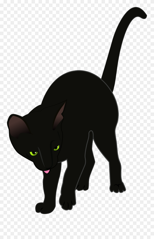 Katze Schwarz Clipart Kostenlos Png Download 397977 Pinclipart