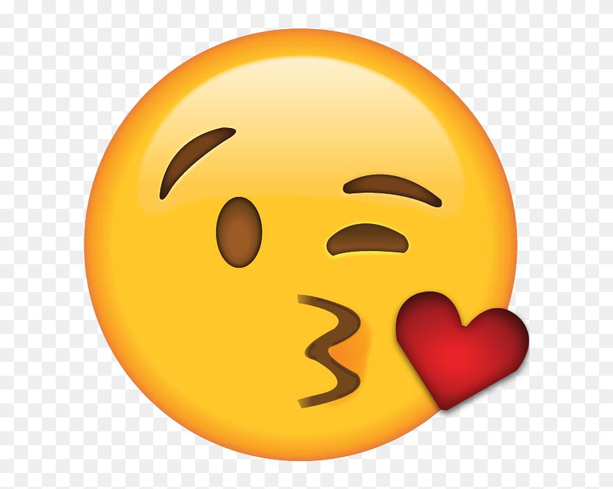 Download Blow Kiss Emoji Kiss Heart Emoji Png Clipart 398905
