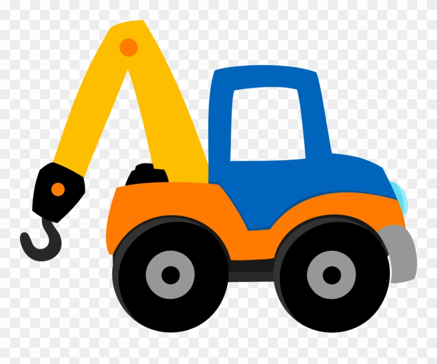 Clip Art, Construction, Transportation, Building, Illustrations - Construction Trucks - Png Download