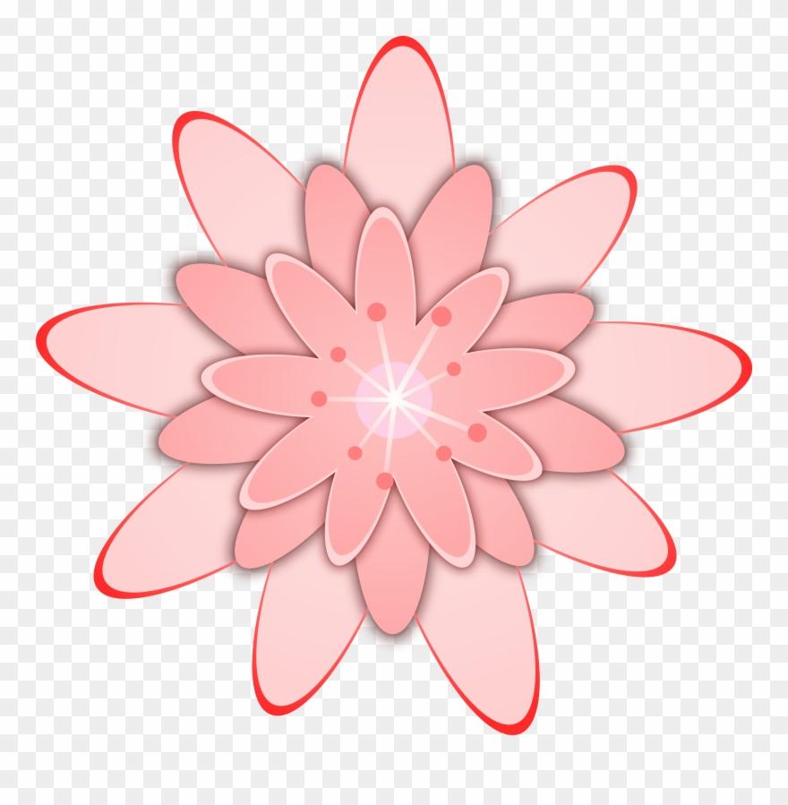Cactus flower. Big image clip art