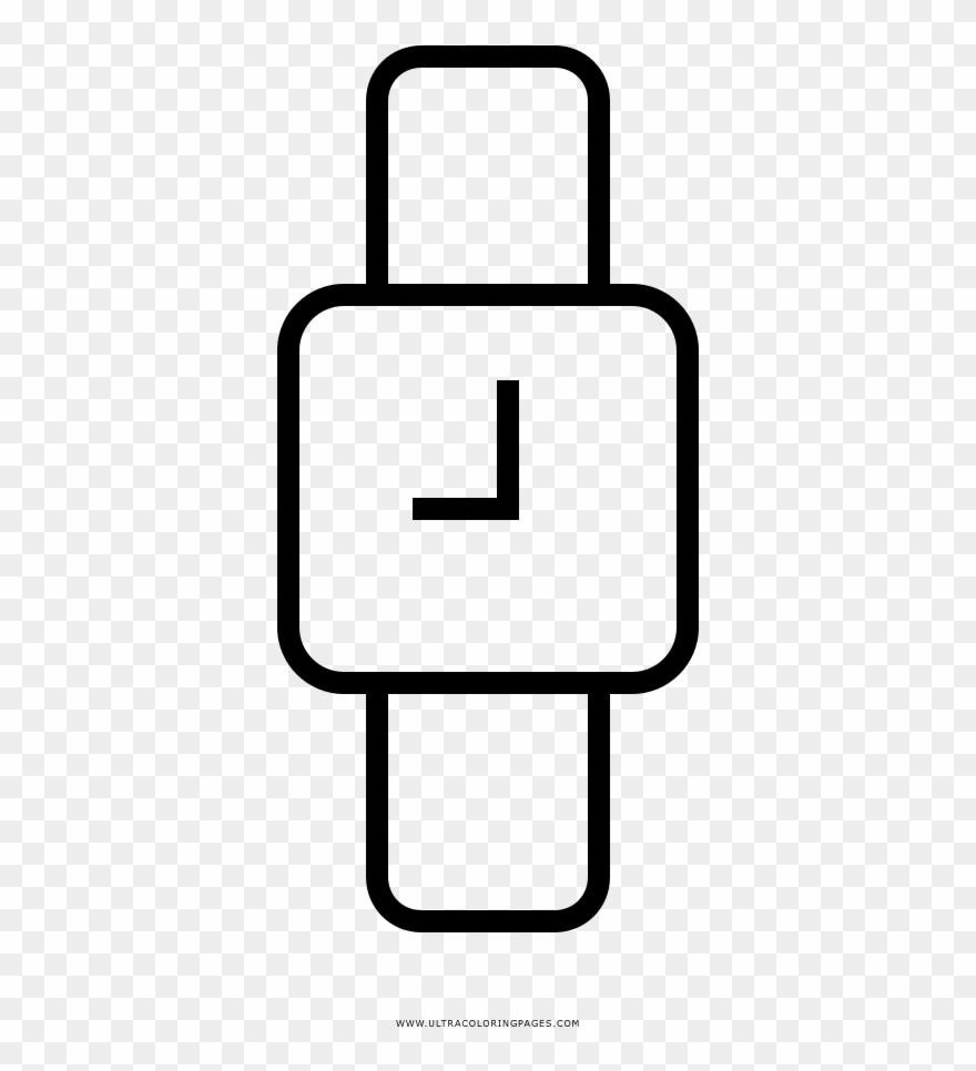 Wristwatch Coloring Page Desenho De Relogio De Pulso Para