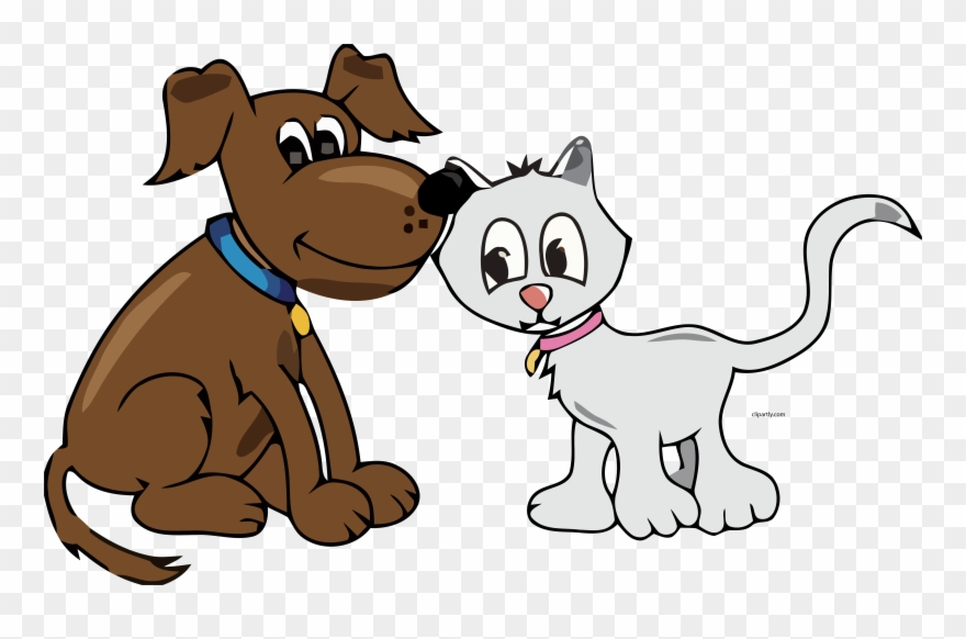 Cartoon Dog And Cat Clipart Png Transparent Png 3900756 Pinclipart