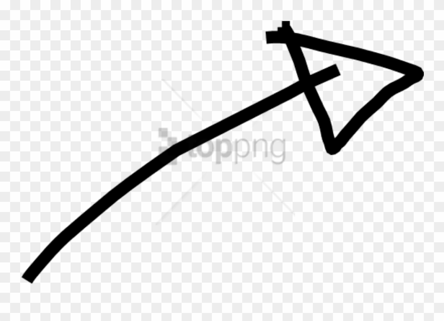 Arrow hand drawn. Free png white banner