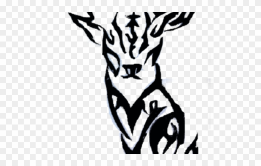 Deer tribal. Elk clipart tattoo transparent