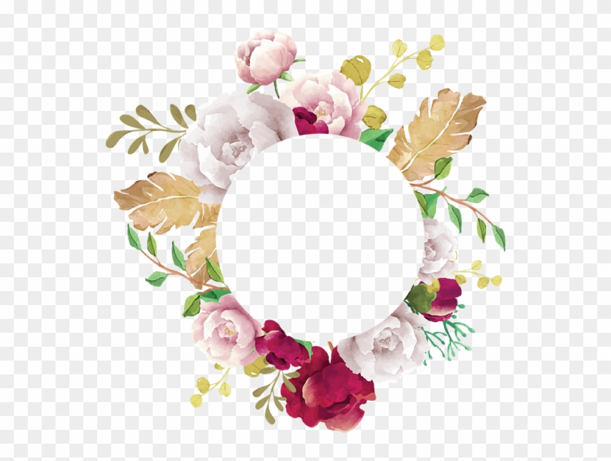 Flower Frame Flower Frame White Pink Red Burgundy