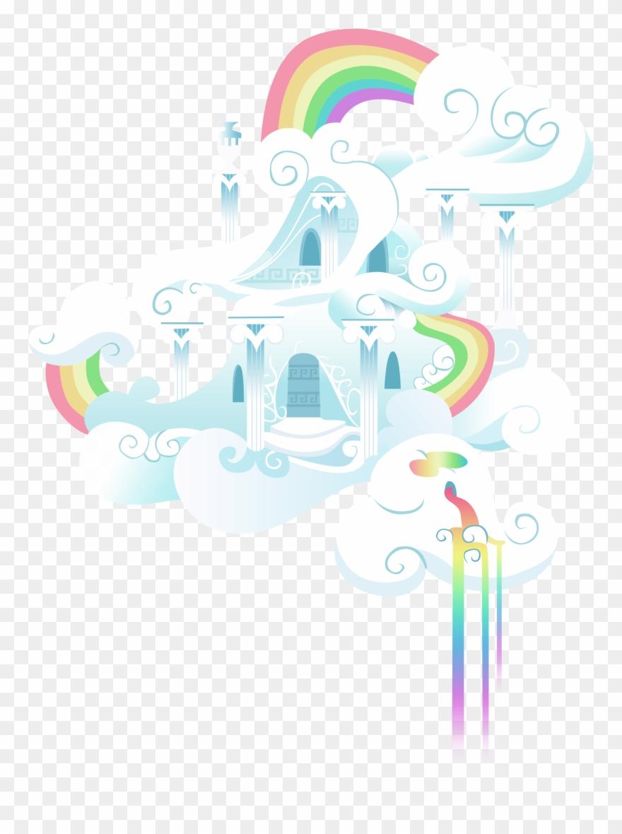 Cloud Clipart House Rainbow Dash Cloud Castle Png Download