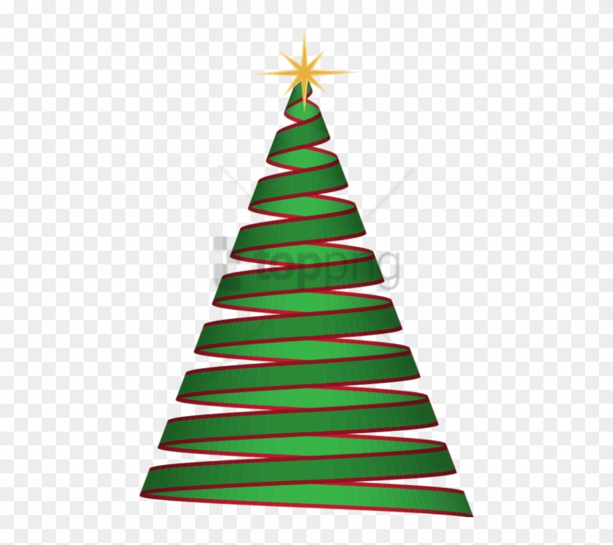 Christmas tree ribbon. Free png image with