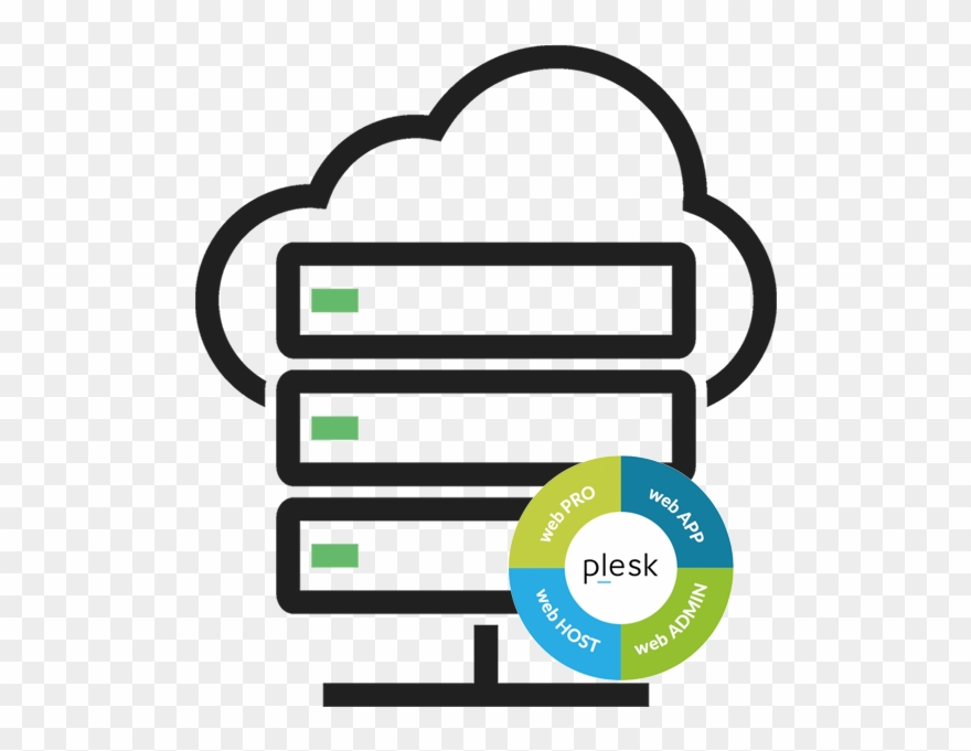 Plesk Logo Clipart Hosting - Cloud Server Icon Png Free Transparent