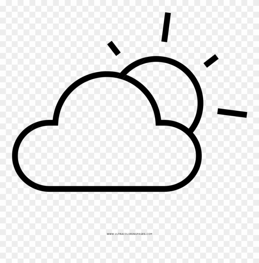 Parcialmente-nublado Página Para Colorear - Line Art Clipart (#3947755) -  PinClipart