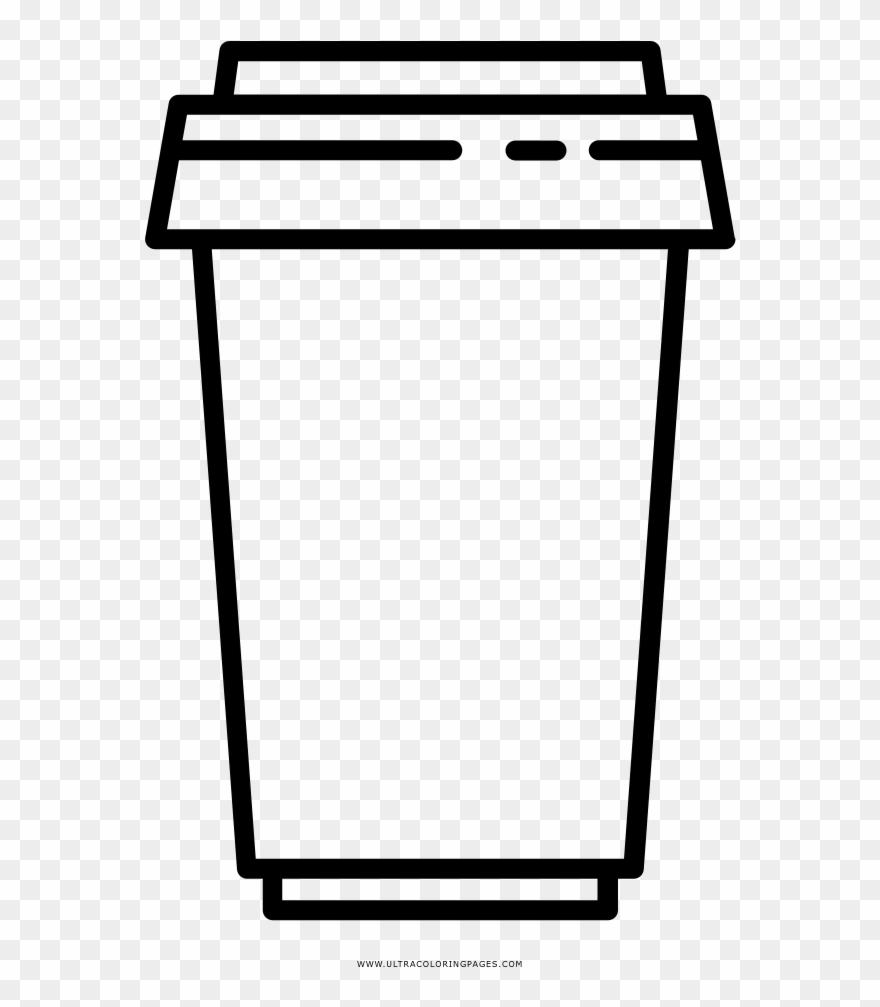 Dibujo De Taza De Café Para Llevar Para Colorear Dibujo De