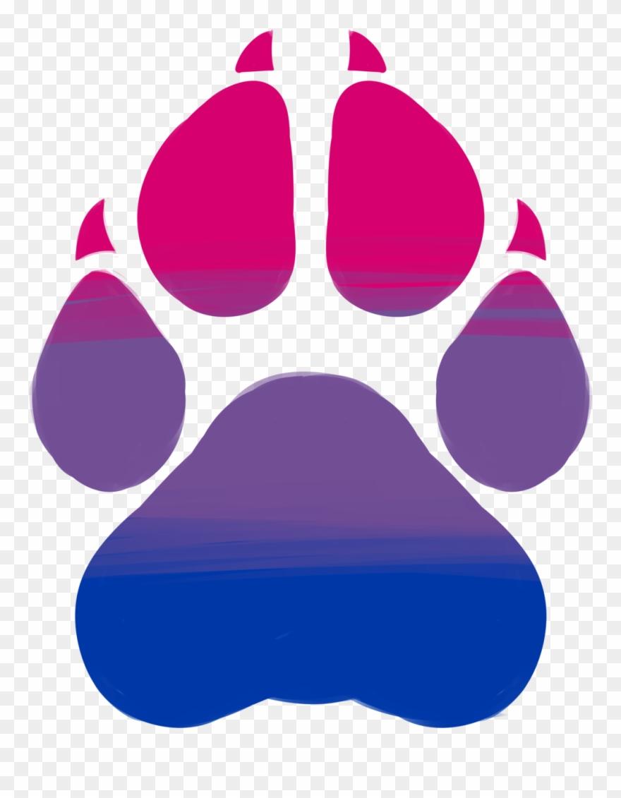 Lesbian - Wildcat Paw Print Png Clipart (#3966151) - PinClipart