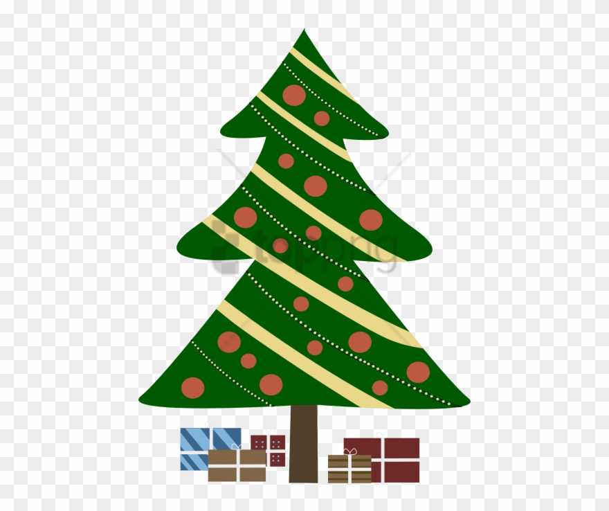 The Best Christmas Tree Cartoon Transparent