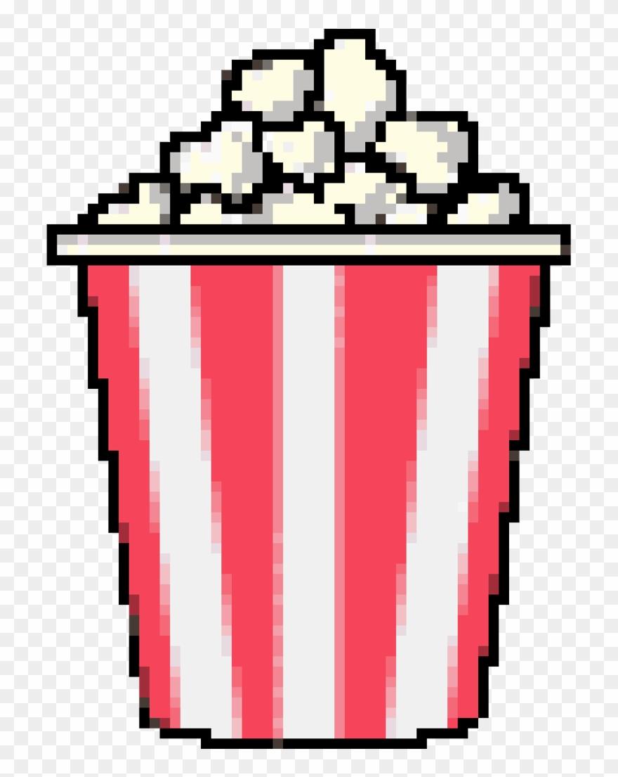 Popcorn kawaii. Cutie pixel pixels palomitas