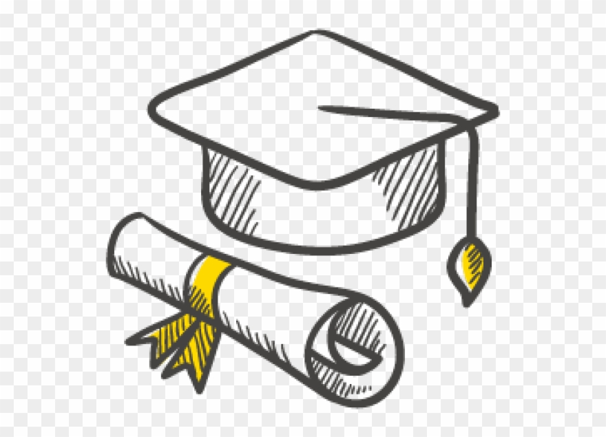 Artboard 48@2x - Draw A Graduation Cap And Scroll Clipart