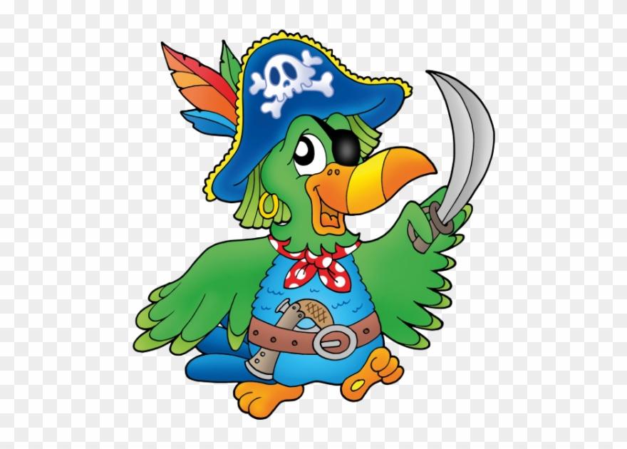 Papagei Cartoon Pirate Parrot Clipart 3981653 Pinclipart