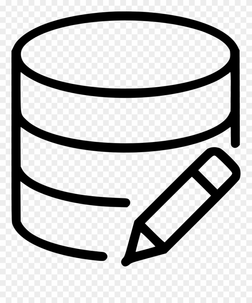Edit Database Svg Png Icon Free Download - Video Edit Vector