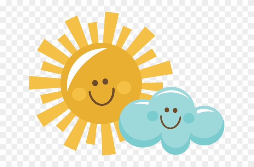Cartoon clouds sunshine and. Sun clipart happy with
