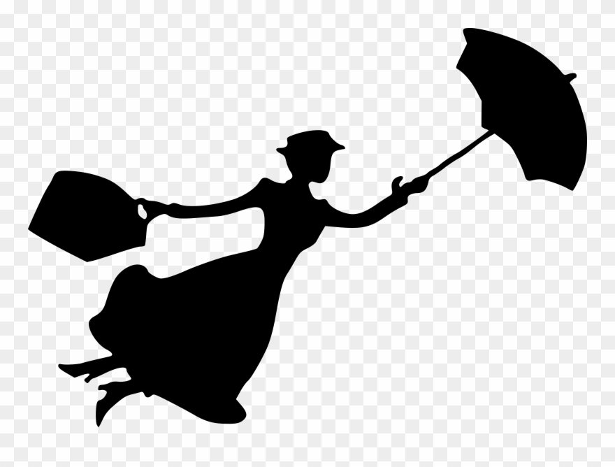 Katie Nanna Mary Poppins Silhouette Cherry Tree Lane - Mary Poppins Silhouette Clipart