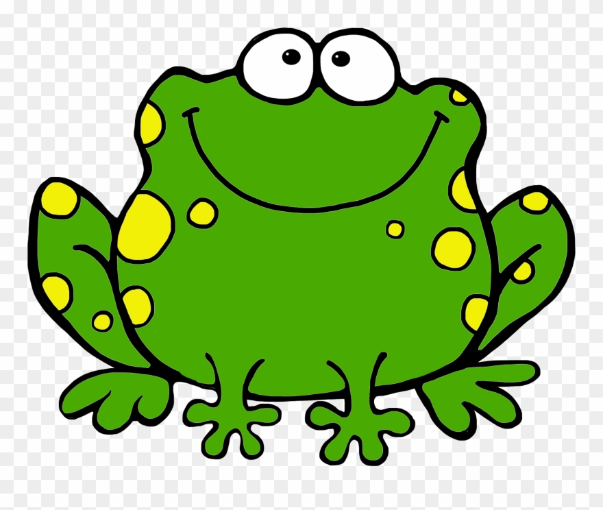 Frog green. Image of cute clipart