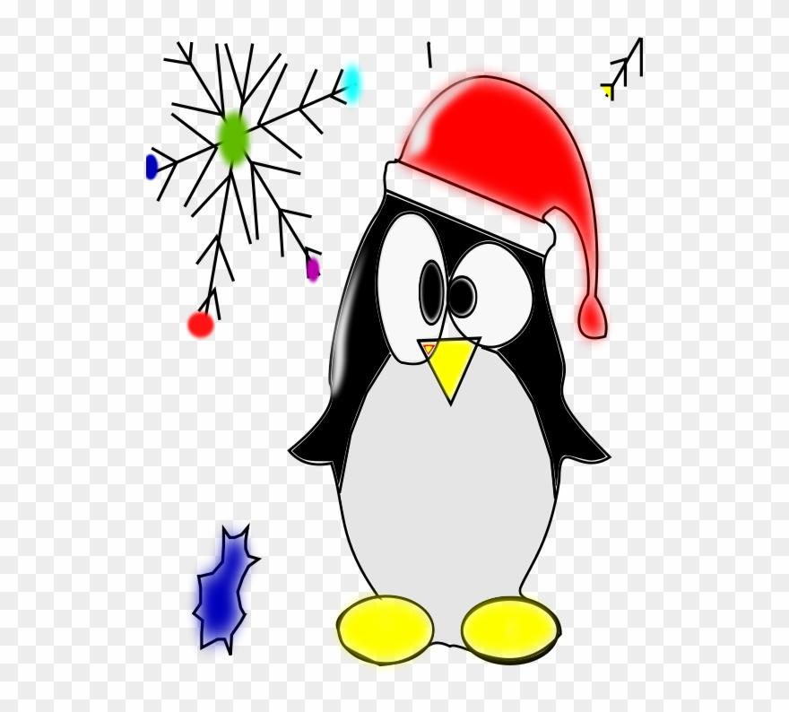 Free Linux Penguin - Christmas Penguin Clip Art - Png Download