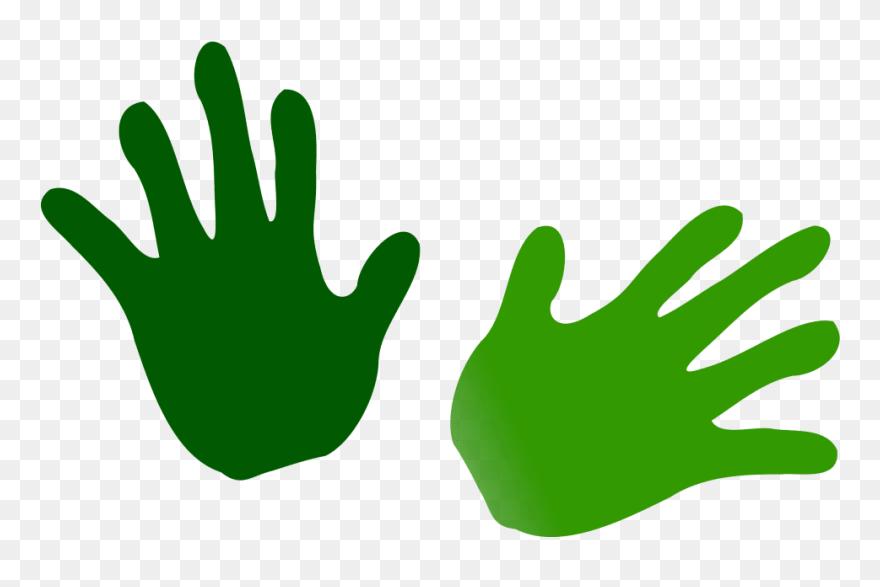 Net Clip Art Green Hands Svg Desenho De Maos Coloridas Png