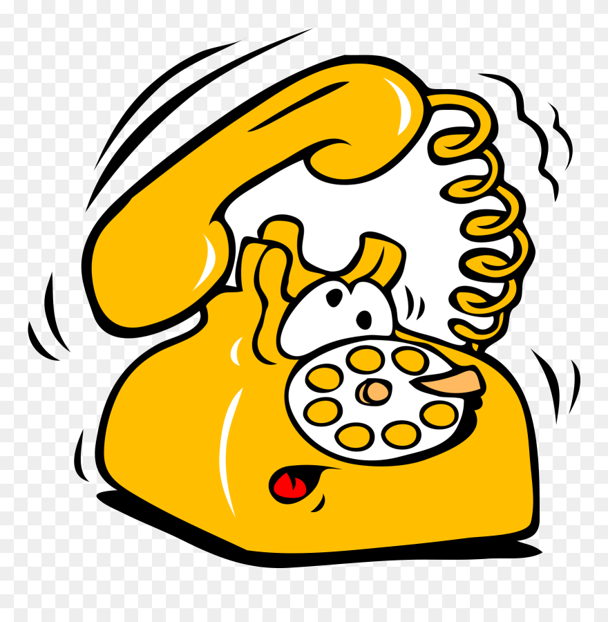 The Adventure Called Job Interview - Cartoon Telephone Clipart