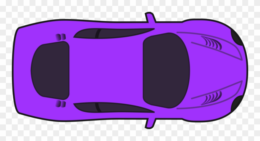 Purple Racing Car Clipart By Qubodup Car Top View Clipart Png