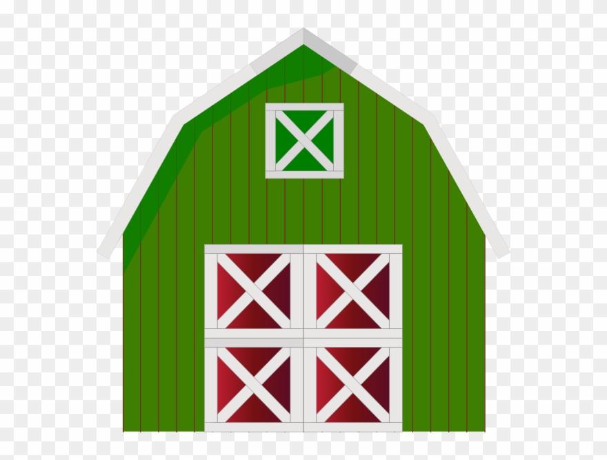 Green Barn Clip Art Cartoon Barn Transparent Png