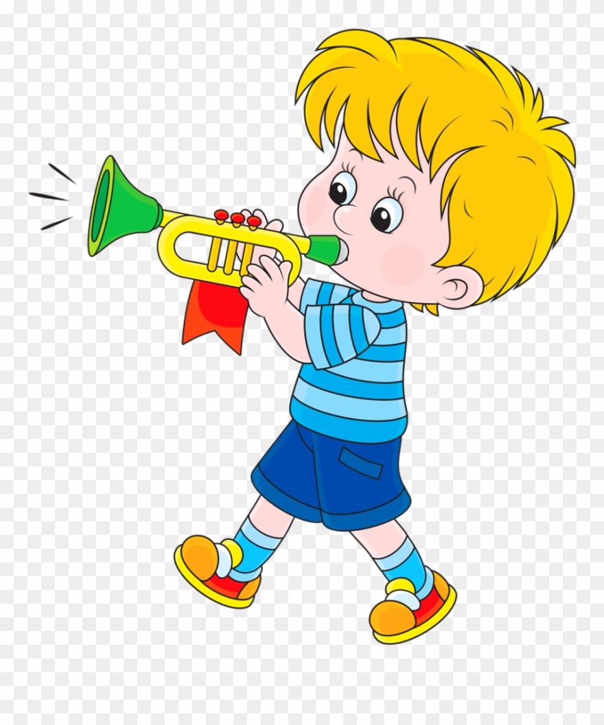 Dan§a Mºsica Blowing A Trumpet Clipart Download