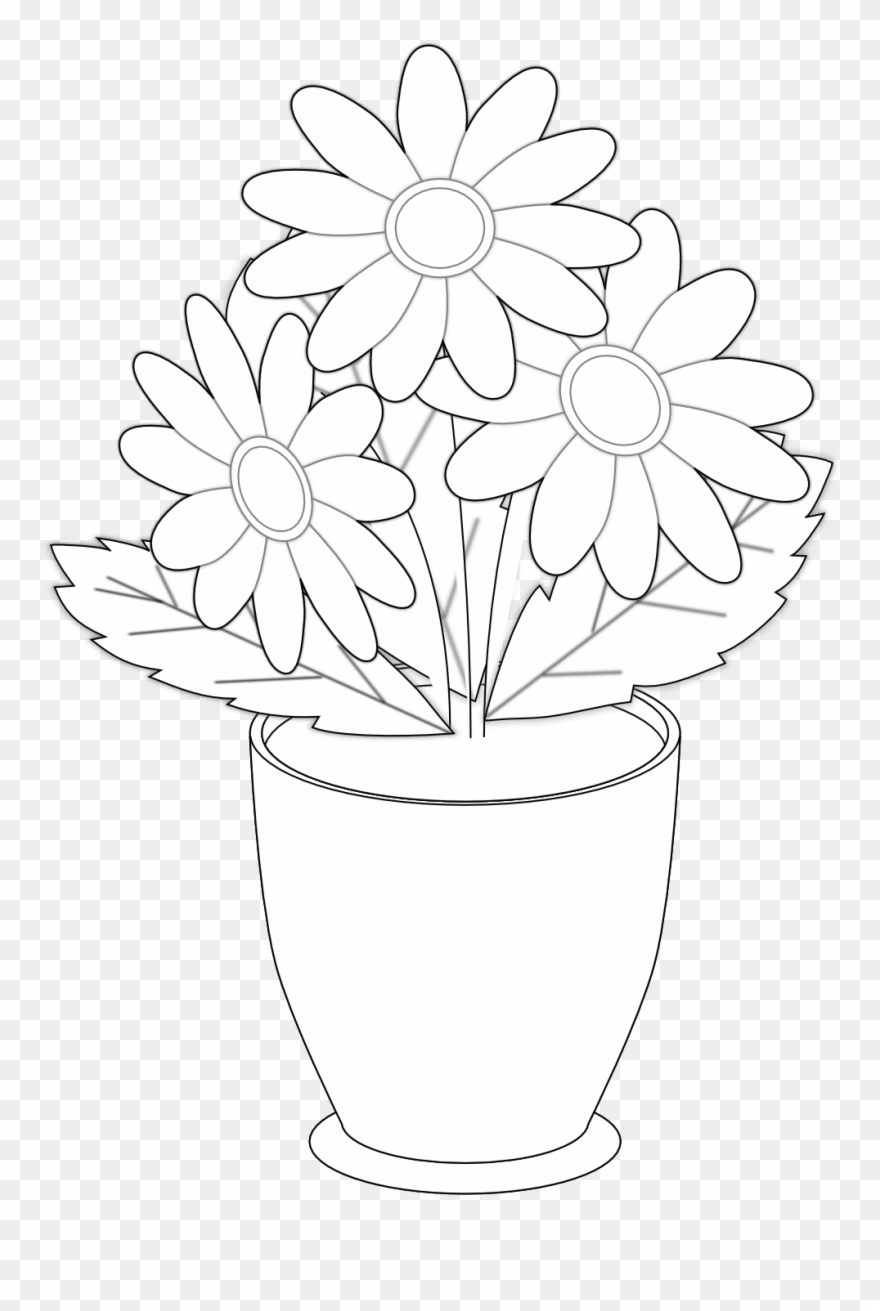 274 & Vase Clipart Clip Art - Draw The Flower Vases - Png Download ...