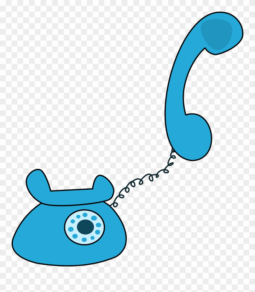 Telephone Free To Use Cliparts Blue Cartoon Telephone Png Download
