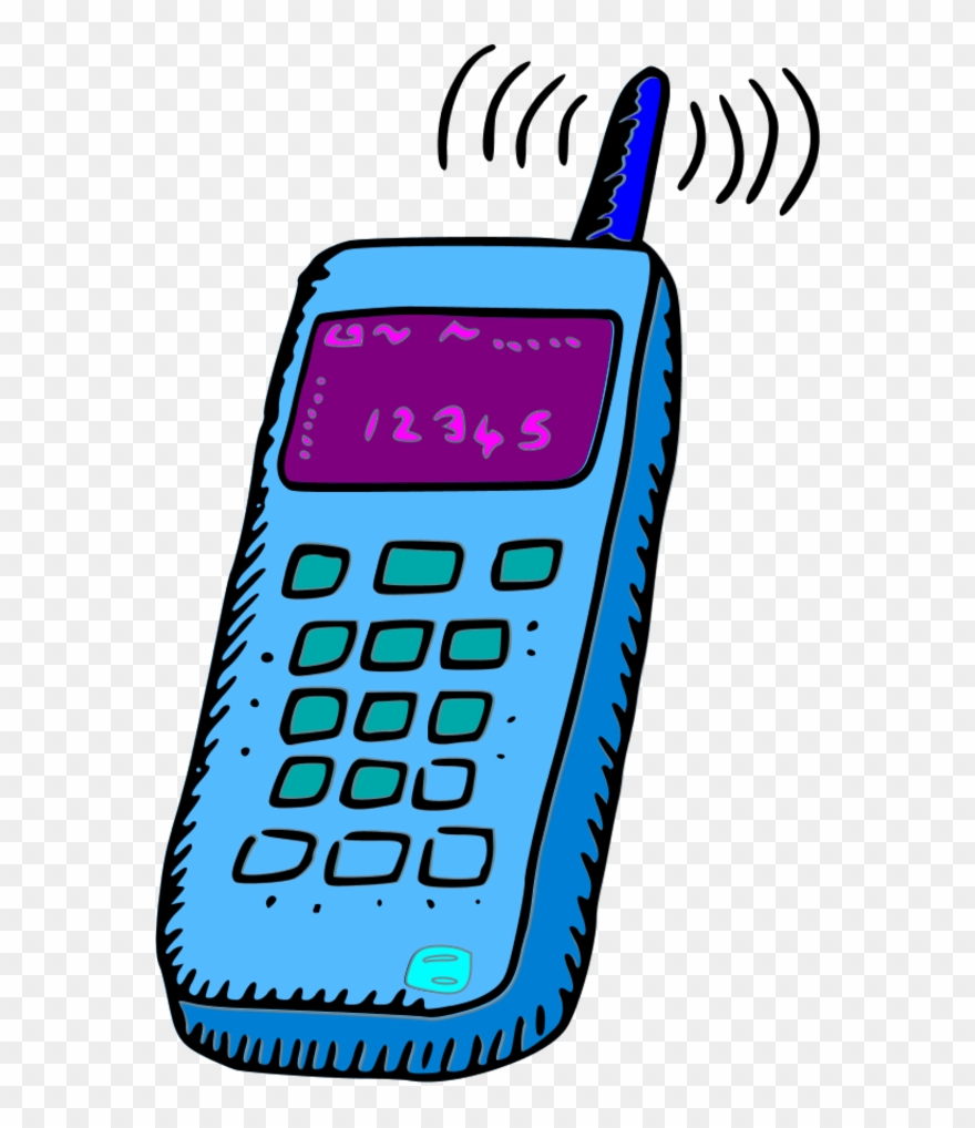 Cell Phone Image Clip Art - Mobile Clipart - Png Download