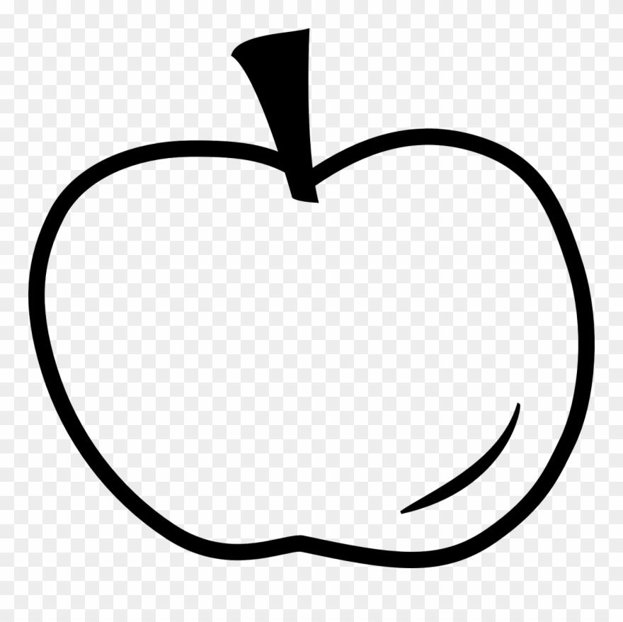 Apple outline. Clip art clipart png
