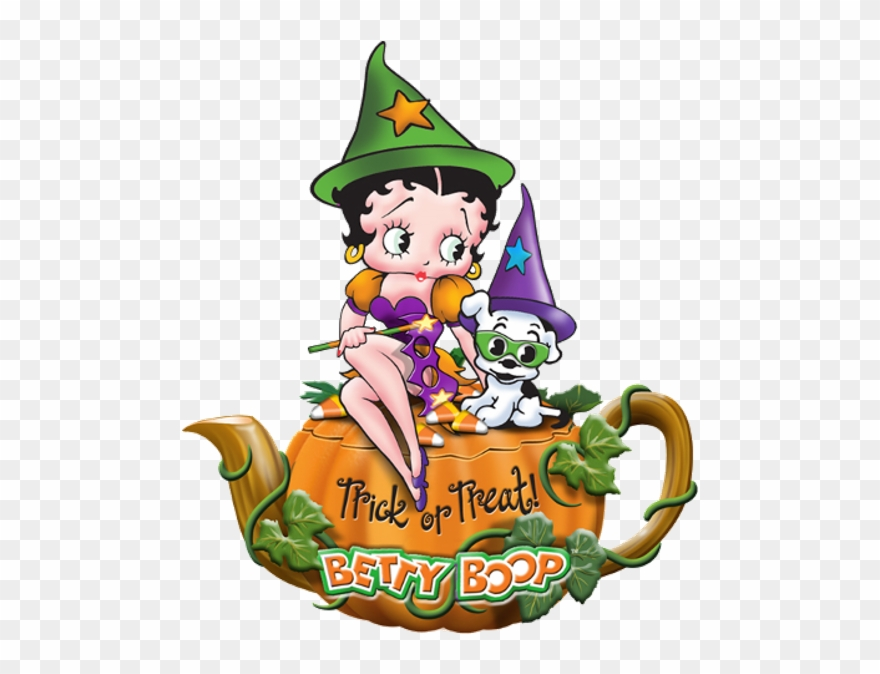 Betty Boop Halloween - Good Morning Trick Or Treat Clipart ...