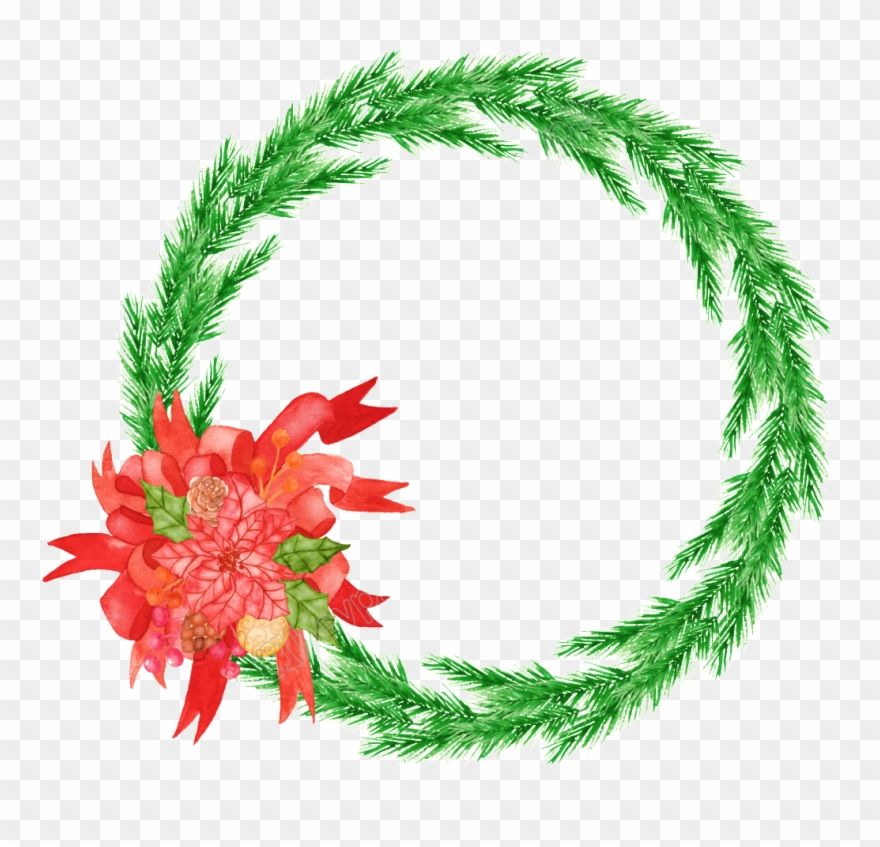 Christmas Reef.Christmas Reef Png Hand Painted Christmas Wreath Png